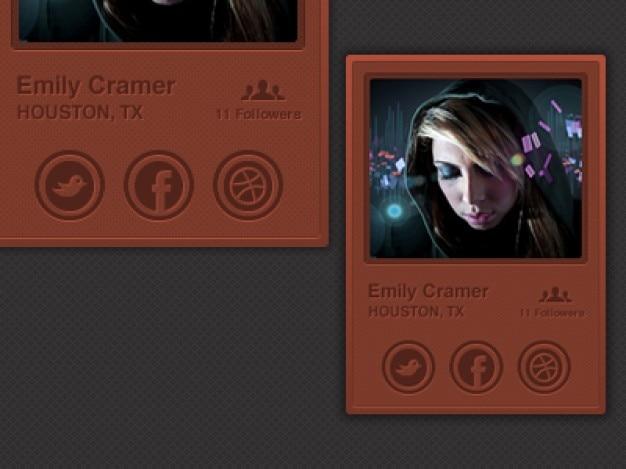 Sozialen benutzerprofil mit avatar