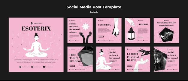Soziales netzwerk für social science social media post