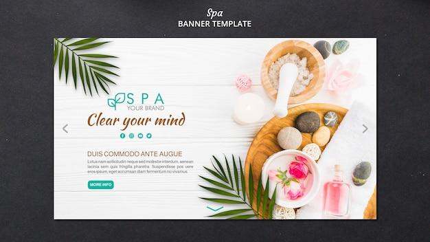 Spa-konzept-banner-vorlage