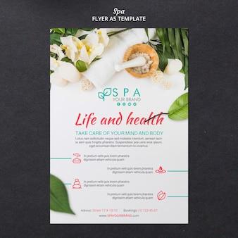 Spa-konzept flyer vorlage