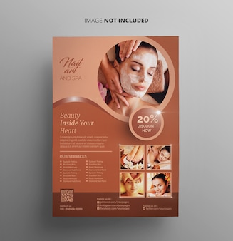 Spa und beauty flyer