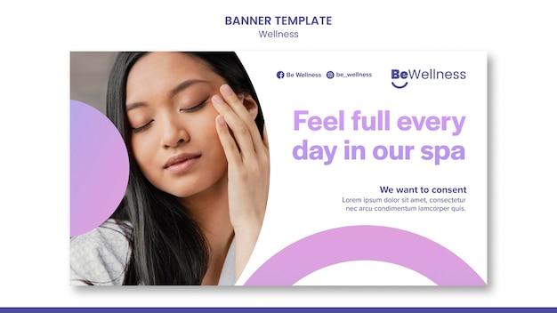 Spa wellness-banner-vorlage