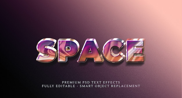 Space text style effekt psd, premium psd texteffekte
