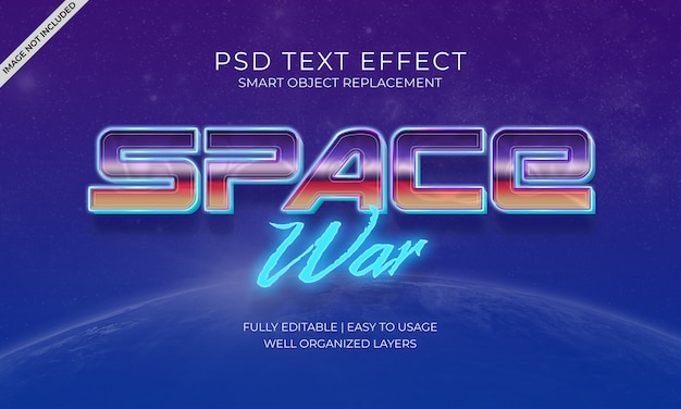 Space war text effekt