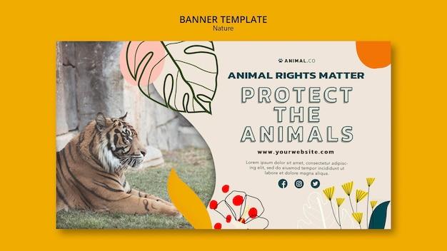Speichern sie die banner-vorlage für tiere