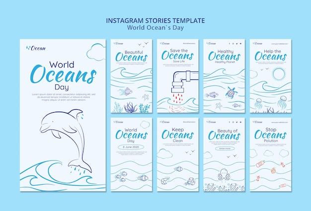 Speichern sie die instagram-geschichten der unterwasserwelt