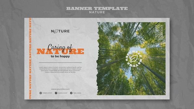 Speichern sie die natur-banner-vorlage
