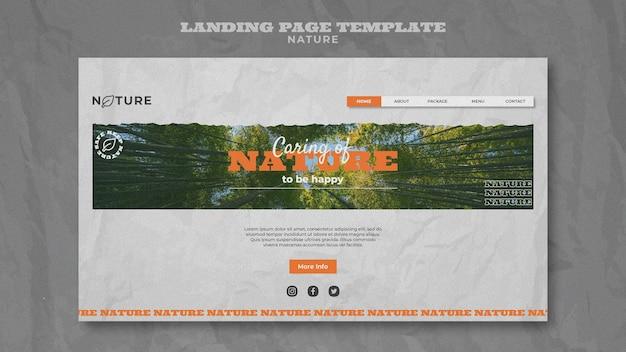 Speichern sie die natur-webvorlage
