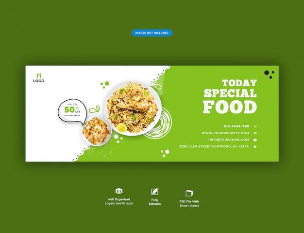 Speisekarte und restaurant facebook cover banner vorlage