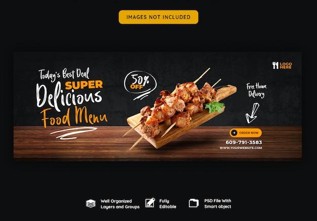Speisekarte und restaurant facebook cover vorlage