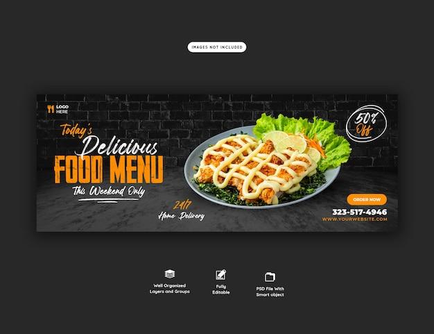 Speisenkarte und restaurant-facebook-cover-vorlage