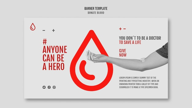 Spenden sie blutkampagnenbanner