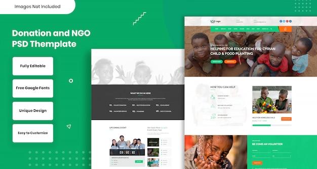 Spenden- und ngo-themenschild