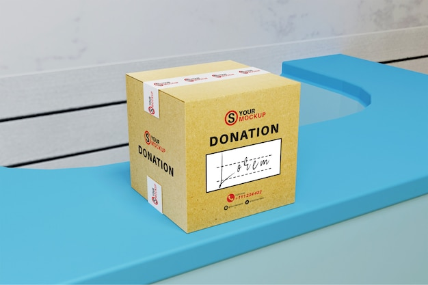 Spendenbox-modell