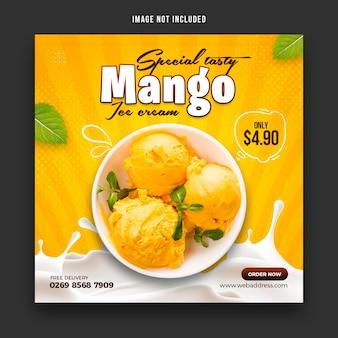 Spezielle köstliche eiscreme-social-media-banner-post-design-vorlage