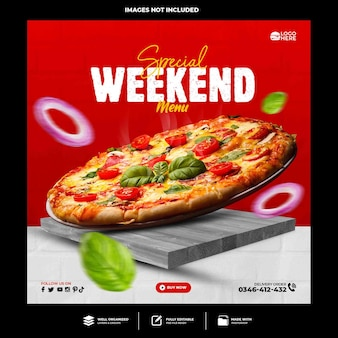 Spezielle leckere pizza-social-media-vorlage