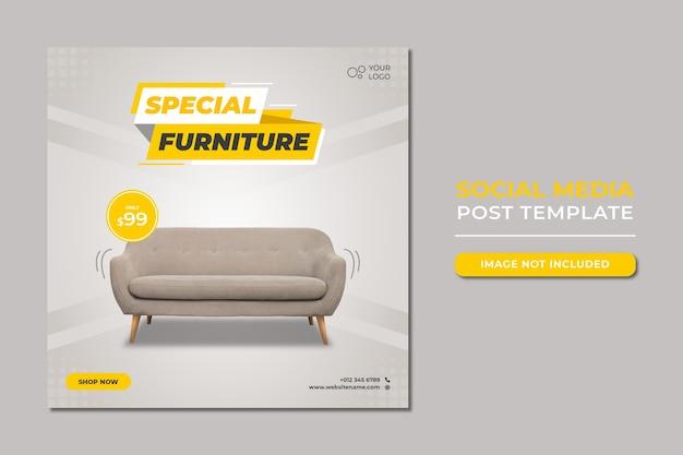 Spezielle möbelverkauf social media post vorlage