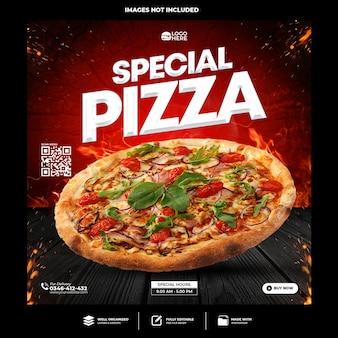 Spezielle pizza social-media-beitragsvorlage