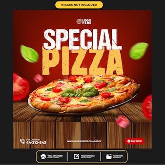 Spezielle pizza social media post vorlage