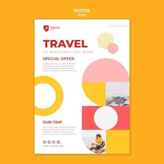 Spezielle reiseangebot poster vorlage