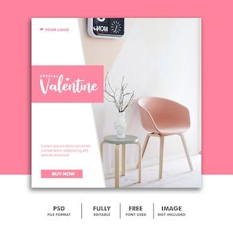 Spezielle valentine banner für social-media-post