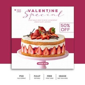 Spezielle valentine sale post für social media