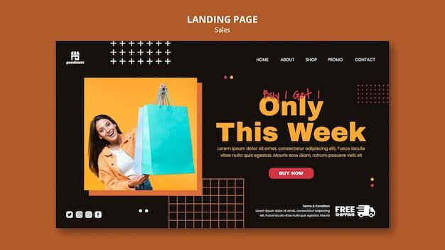 Spezielle verkaufs-landingpage-vorlage