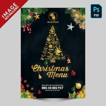 Spezielle weihnachtsbuch-menü-titelseite