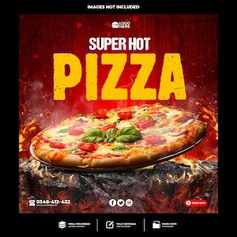 Spezieller pizza-social-media-post