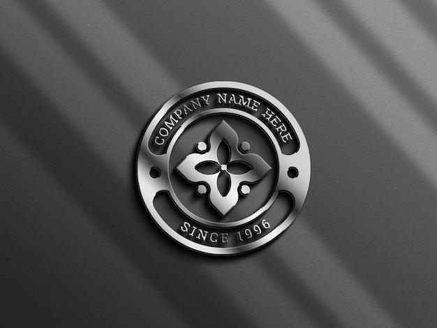 Spezielles logo-mockup mit metallic-effekt