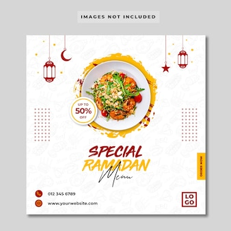 Spezielles ramadan food menü instagram banner