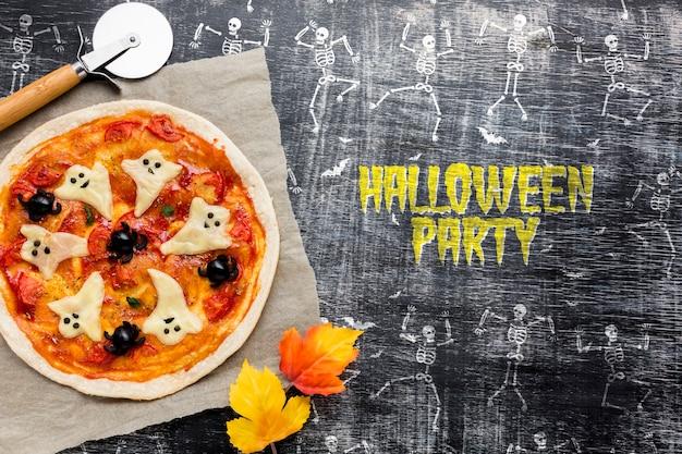 Spezifischer tag der halloween-pizza-festlichkeit