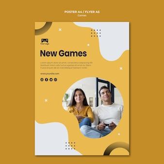 Spiele poster vorlage konzept