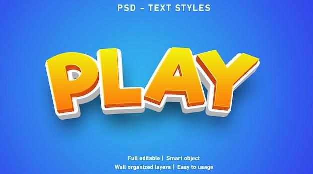 Spielen sie den stil von texteffekten
