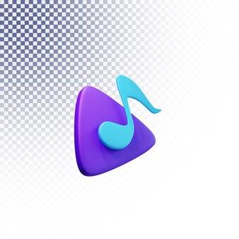 Spielen sie musikikone hochwertiges 3d gerendertes isoliertes konzept