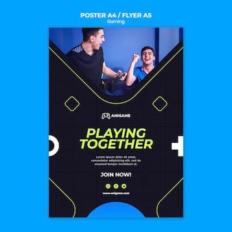 Spielkonzept flyer design