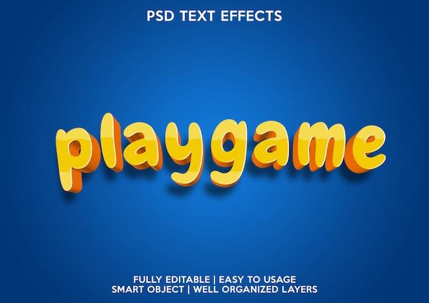 Spieltext-effekt spielen