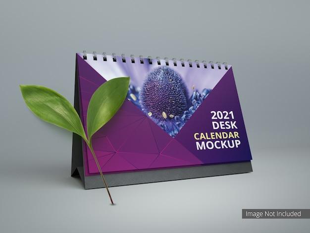 Spiral-tischkalender für modellwerbung und branding