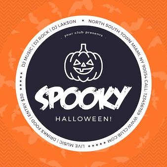 Spooky halloween facebook und instagram beitragsvorlage