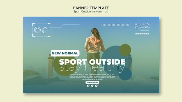 Sport außerhalb banner konzept