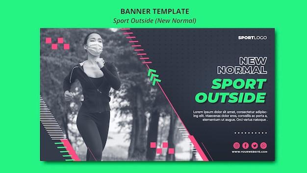 Sport außerhalb konzept banner stil