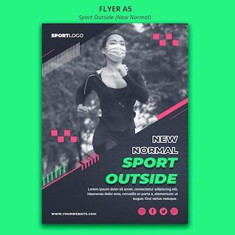 Sport außerhalb konzept flyer design