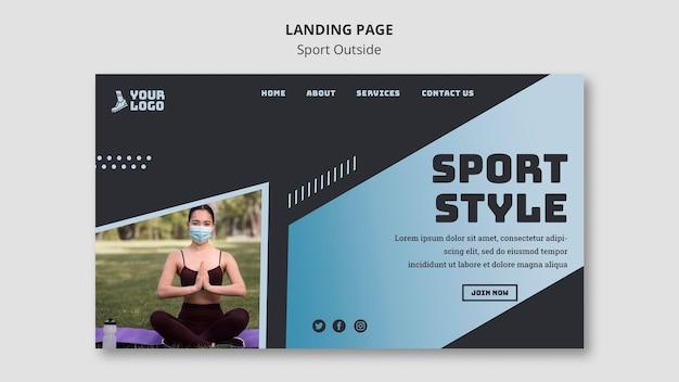Sport außerhalb landingpage design