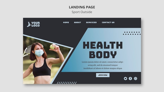 Sport außerhalb landingpage-thema