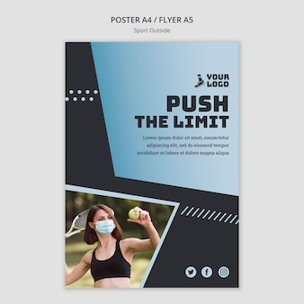Sport außerhalb poster vorlage thema