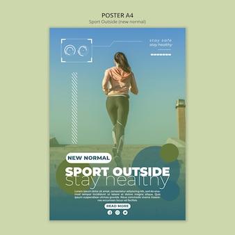 Sport außerhalb poster