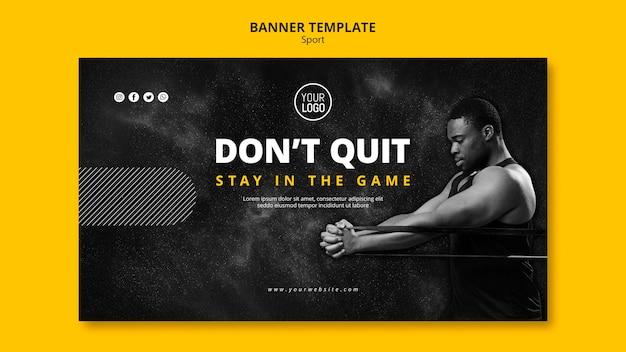 Sport banner vorlage thema