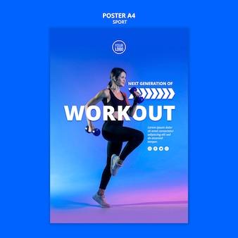 Sport flyer vorlage design