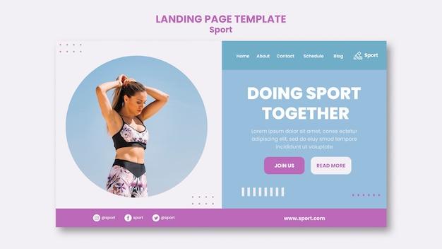 Sport-landing-page-vorlage mit foto