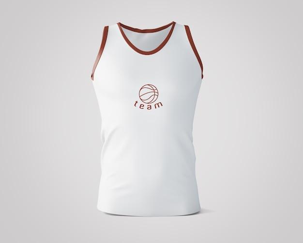 Sport-shirt-modell mit markenlogo